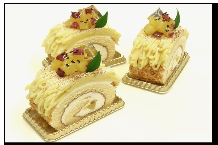 スィートポテトのロールケーキ
